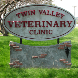 Clinic road sign